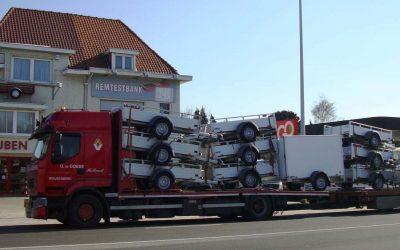 Levering van Saris aanhangwagens bij Louben te Antwerpen