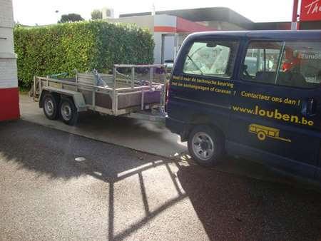 Aanhangwagen naar technische keuring Louben