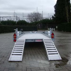 Machinetransporter Dreamtrailer Oprijplaten