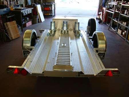 Motortrailer Op Maat Materiaalbak En Motorwielklemmen