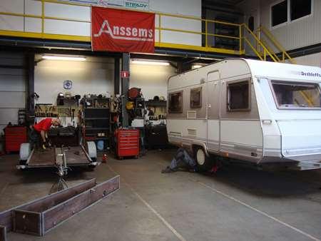 Werkplaats herstelling caravan Louben