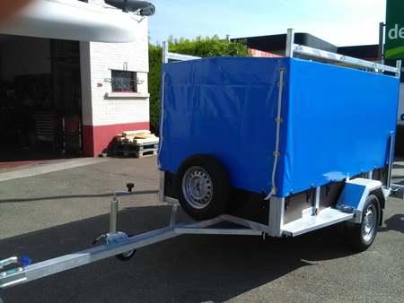 Bakaanhangwagen BCW T750 op maat verlengde dissel en dakdragers