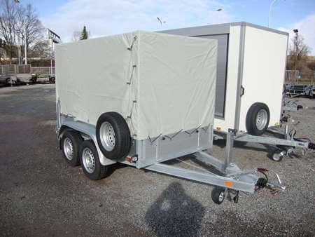 Bakaanhangwagen BSX 2500 optie huif reservewiel steunpoten KS35-slot