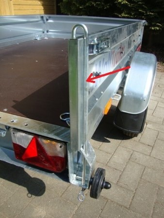 Walltrailer Optie Locking Beugel