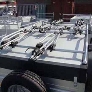 Fietsrek Thule 532 Op Grande Campioni Bagage Aanhangwagen