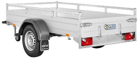 Bakaanhangwagen Enkelas Geremd Saris McAlu Pro DV135 Achteraanzicht Web