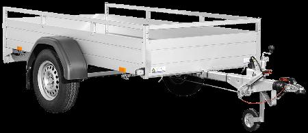 Bakaanhangwagen enkelas geremd SariBakaanhangwagen enkelas geremd Saris McAlu Pro DV135 vooraanzichts McAlu Pro DV135 vooraanzicht