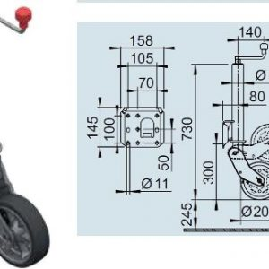 Neuswiel Kantelbaar Model – AL-KO 1212382 – 500 Kg