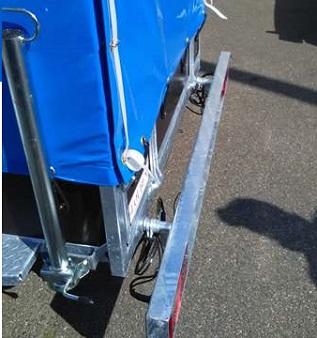 Bakaanhangwagen BCW T750 Op Maat Uitschuifbare Lichtbalk