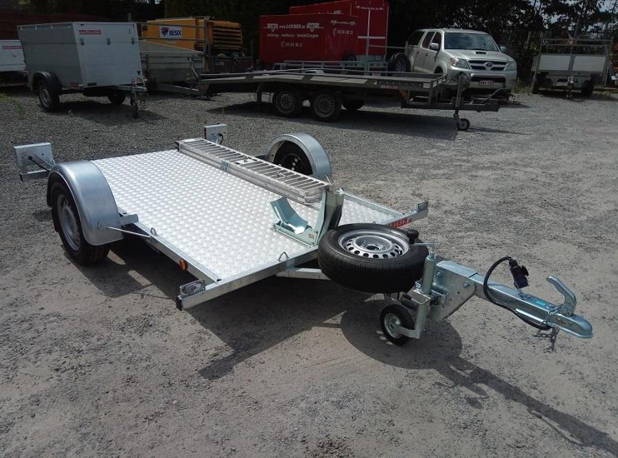BCW Motortrailer Op Maat Met Houten Vloer + Tranenplaat En Motorwielklem 2