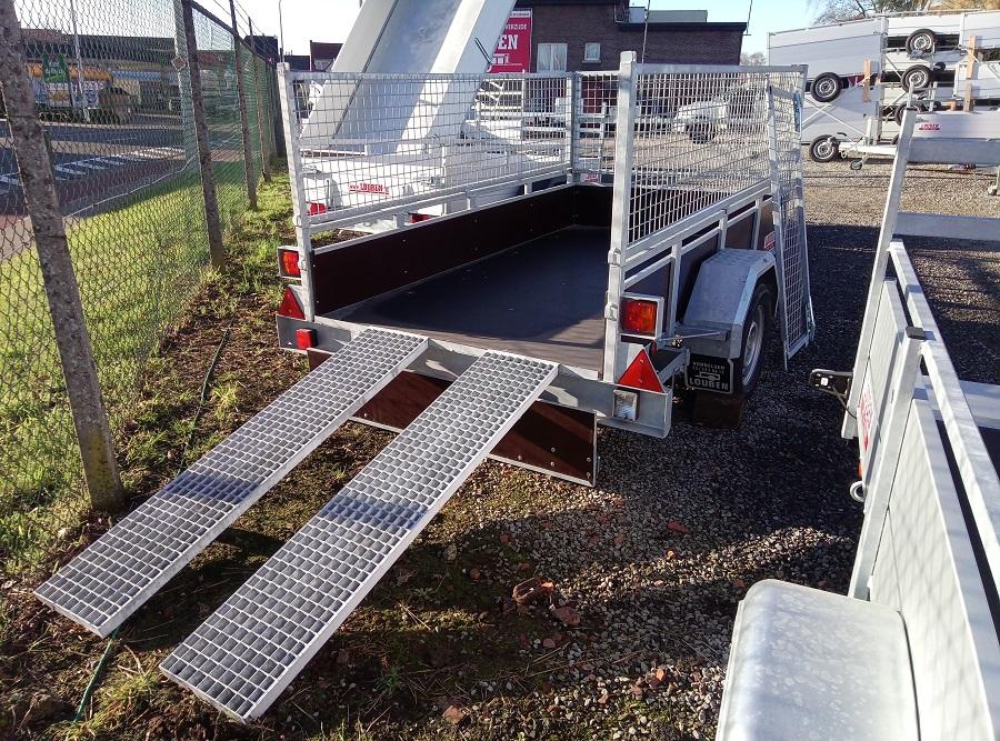 Bak Aanhangwagen BCW T750 Met Oprijplaten En Optie Loofrek